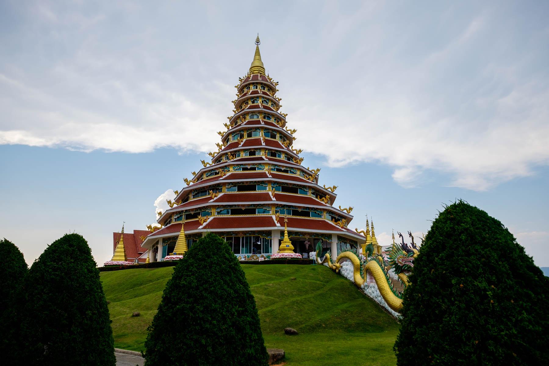9 tier Pagoda temple chiang rai Thailand