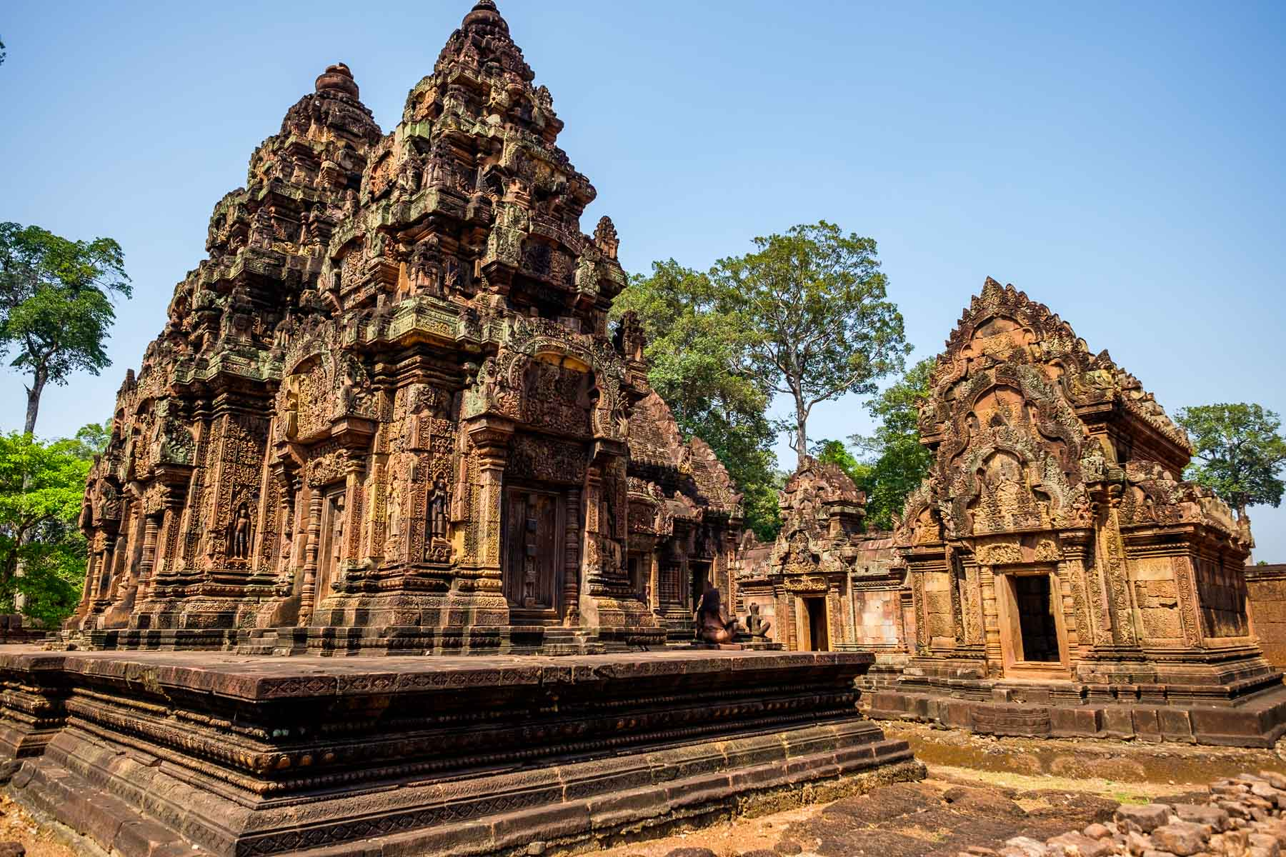 Banteay Srei towers Angkor Cambodia