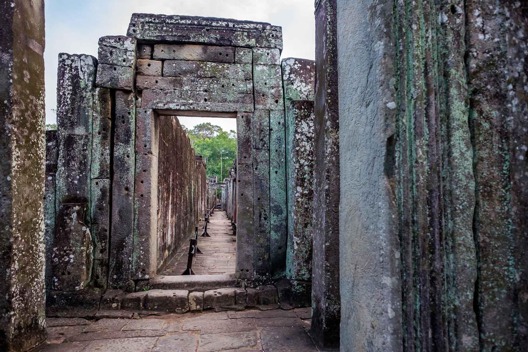 Bayon walkway Cambodia