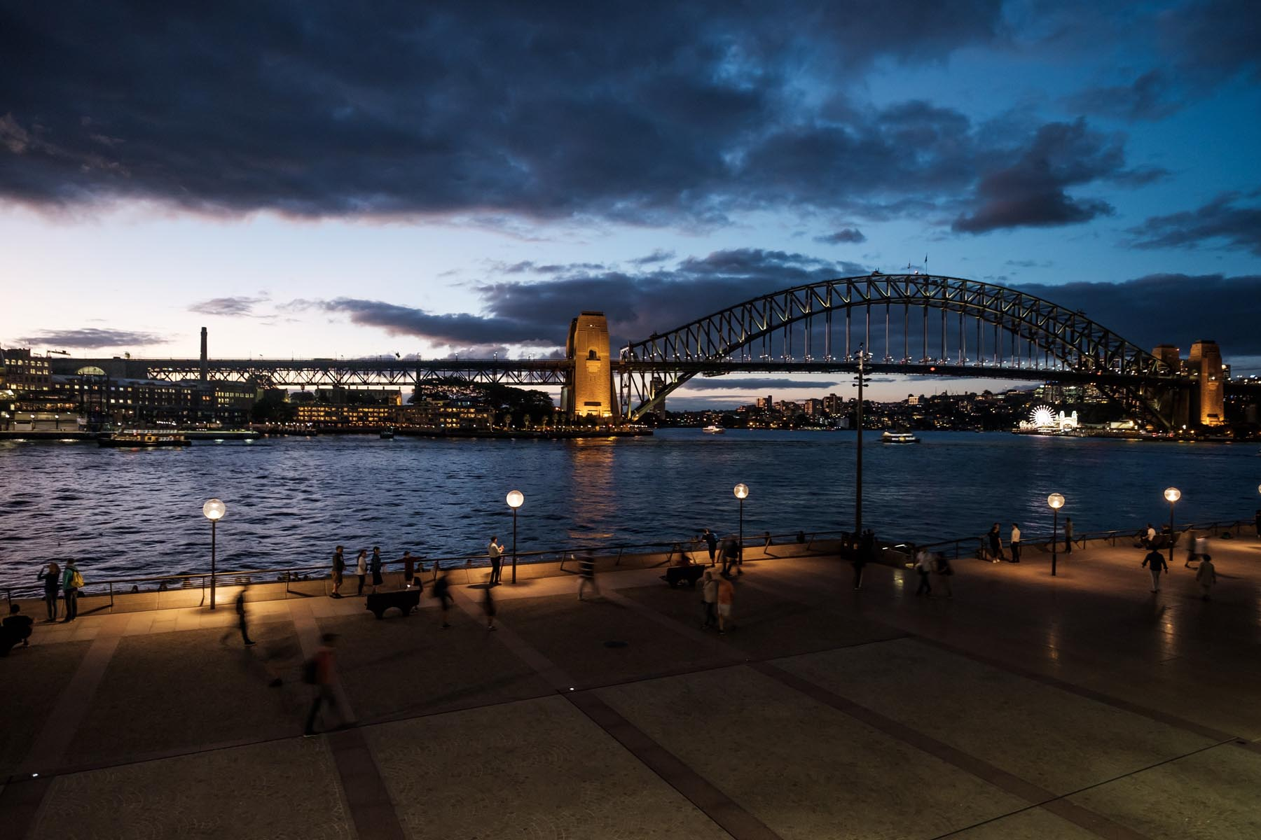 sydney bridge sunset Australia