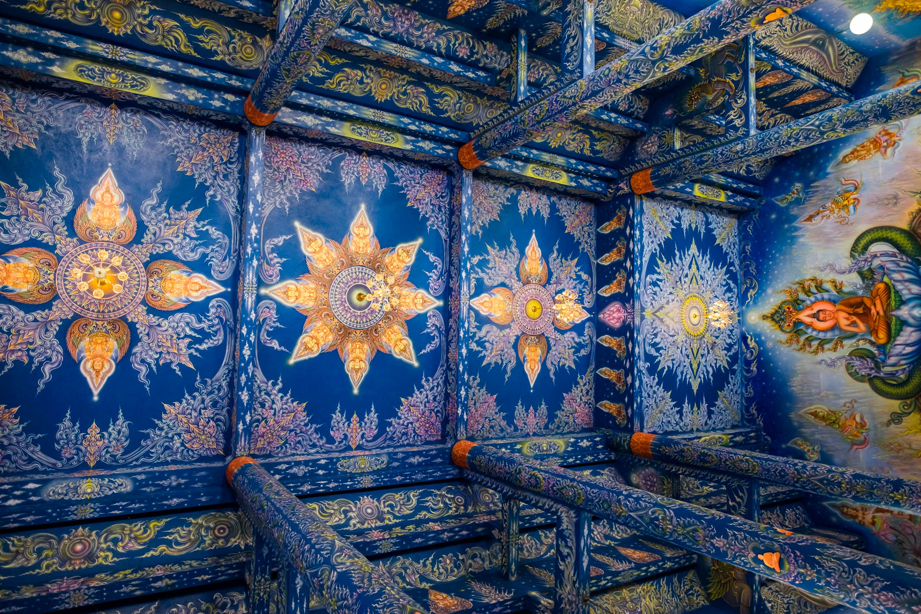 Ceiling design Blue temple