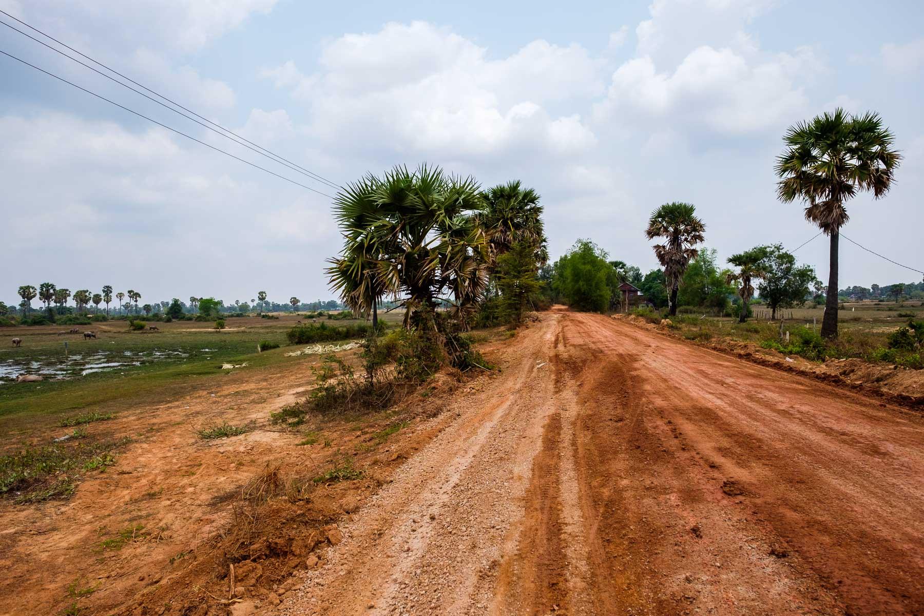 Dirt Road Rural Cambodia