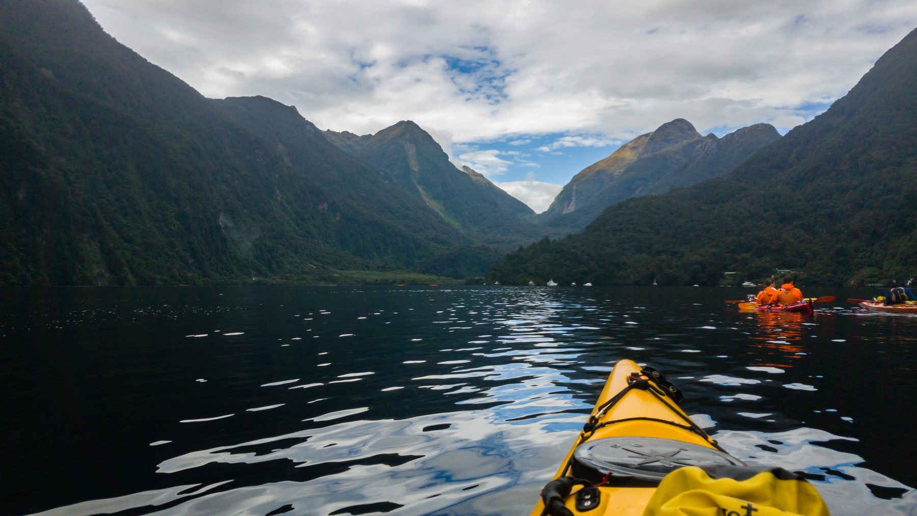 Kayaking at Doubtful Sound New Zealand