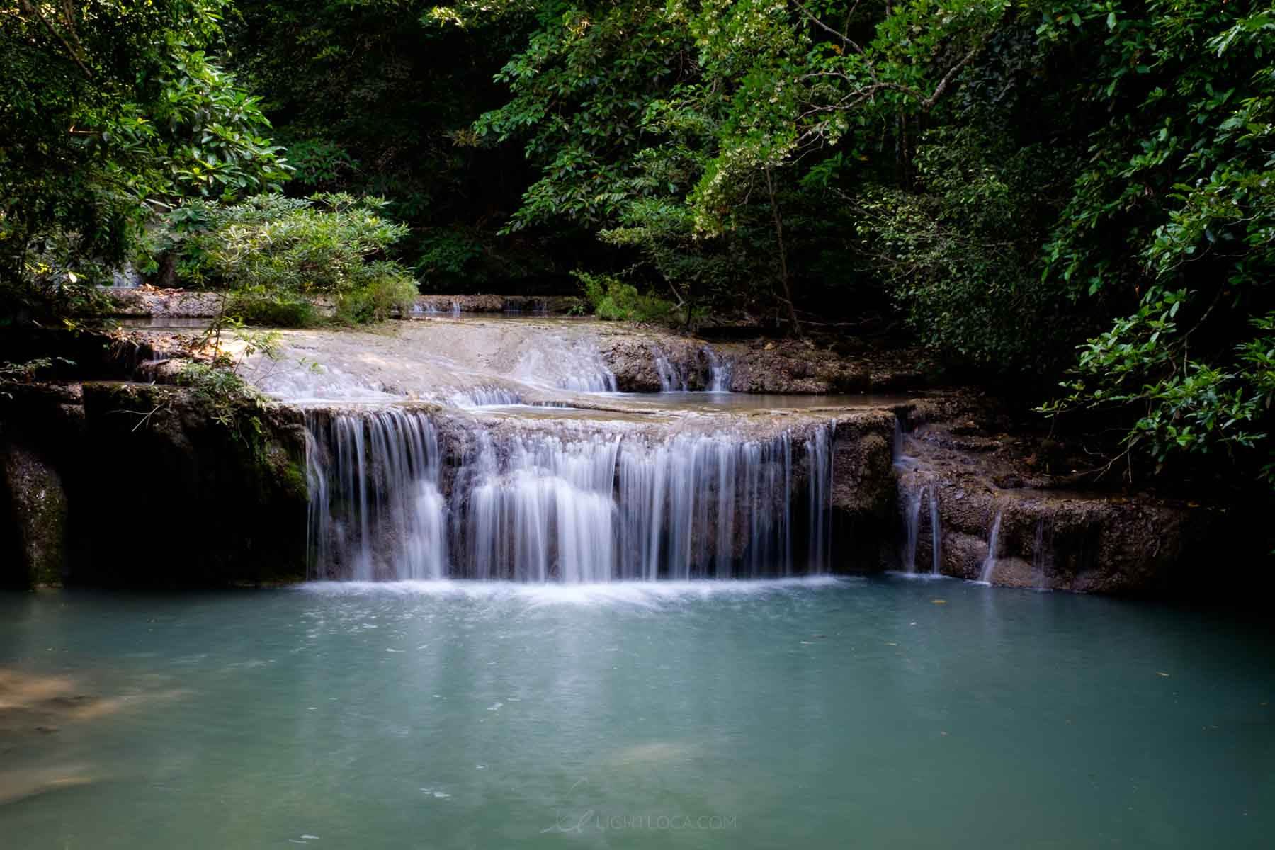 Erawan National Park Waterfall - Light loca