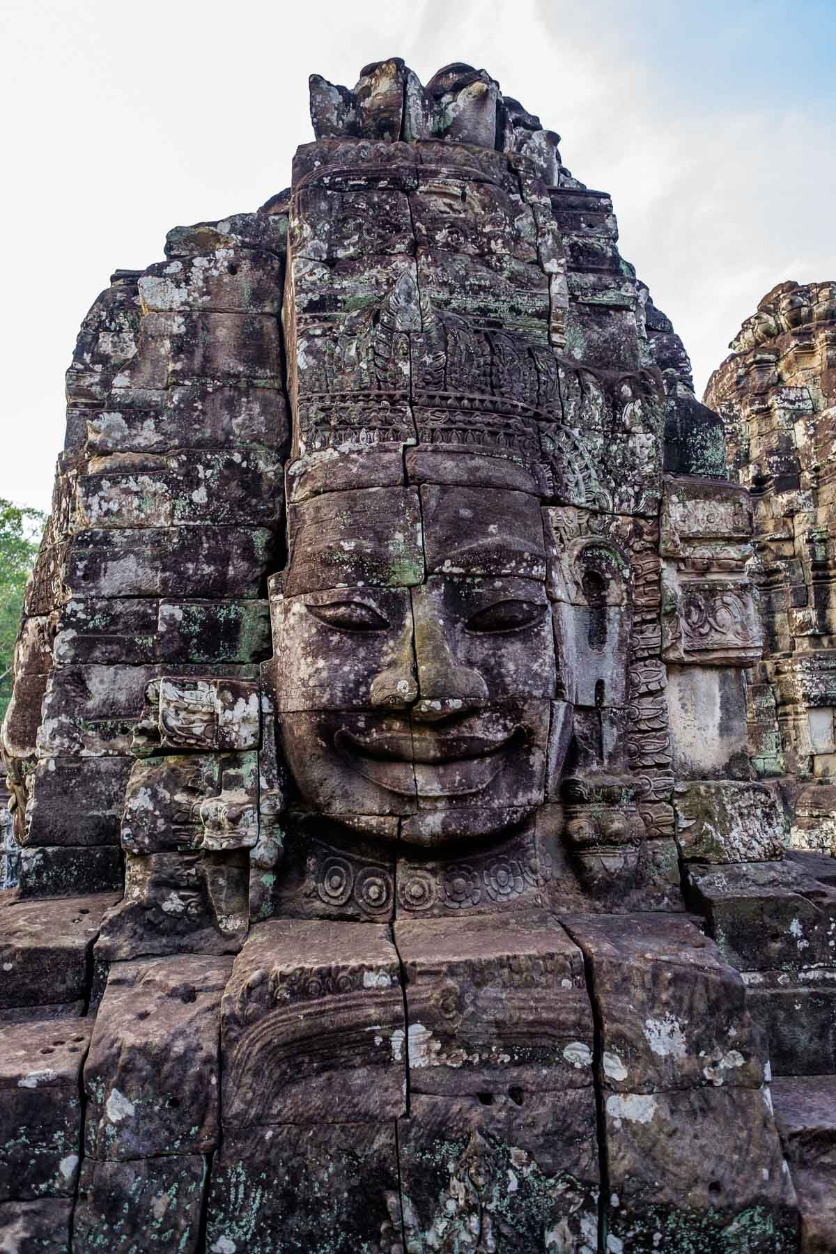 Face structure Bayon Cambodia