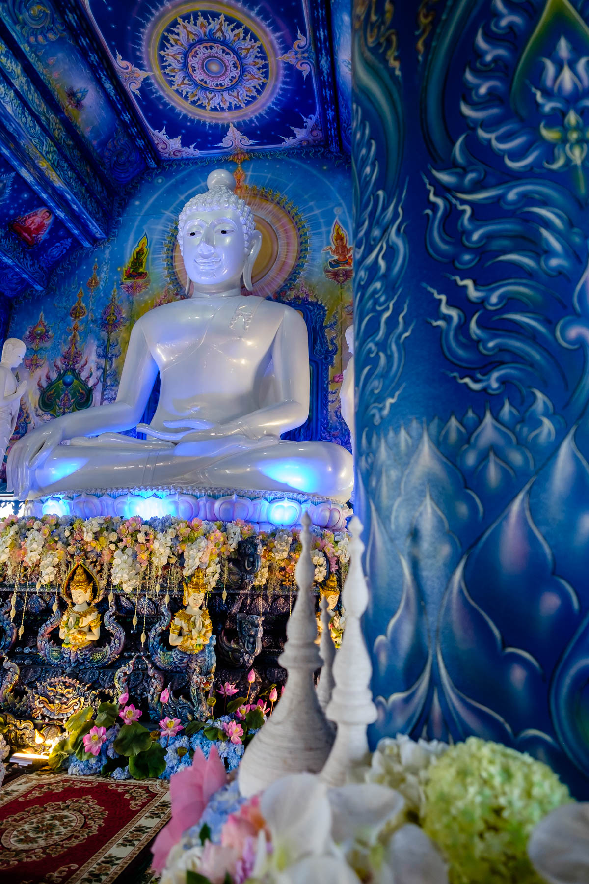 Inside Blue temple Chiang Rai