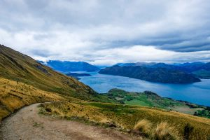 Lake Wanaka from Roys Peak trail New Zealand