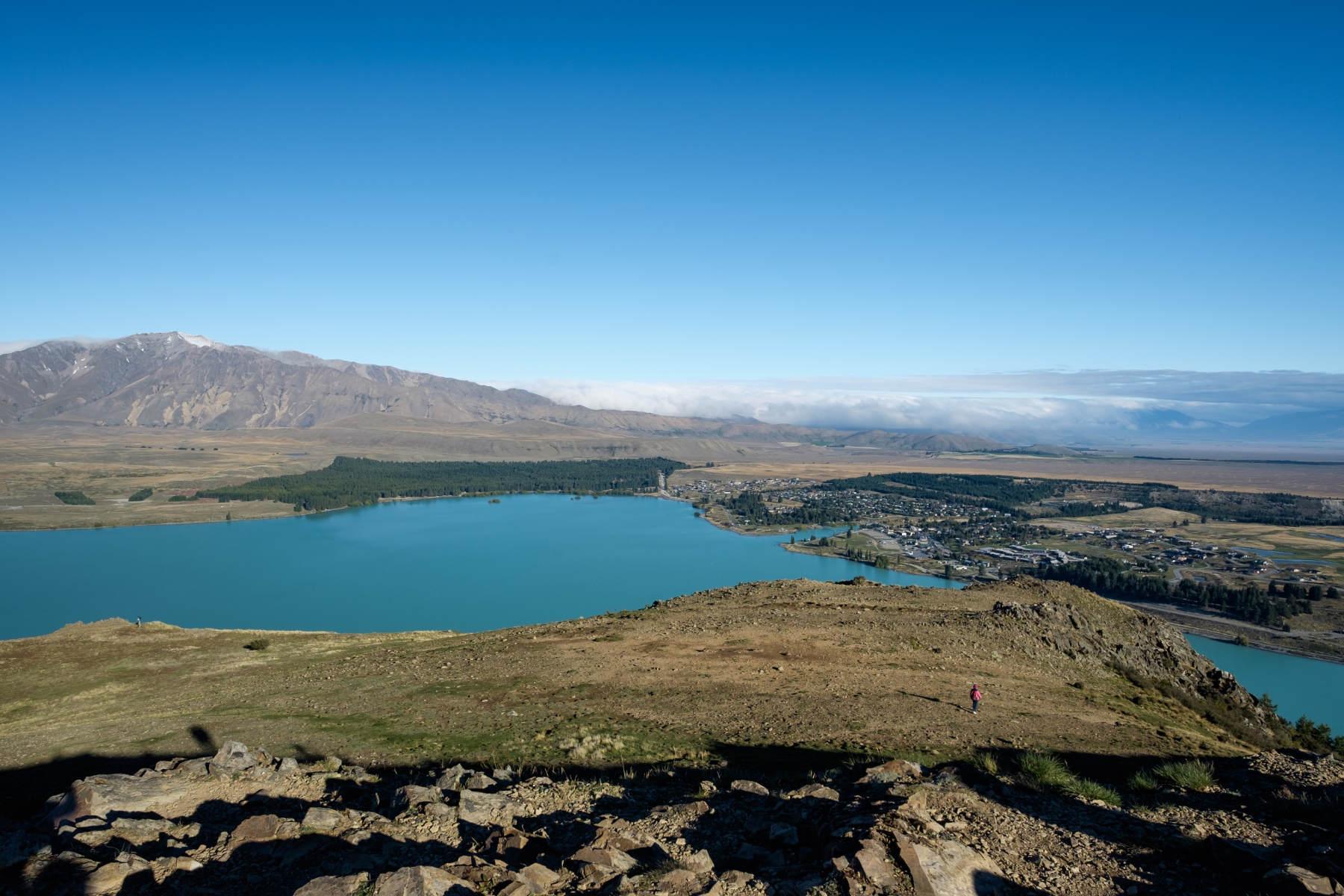 View of Lake Tekapo from Mount John new zealand