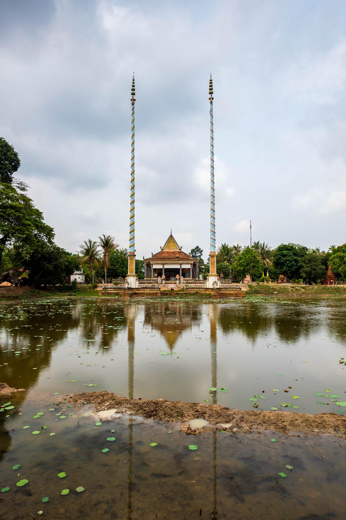 Long Pole at Monastery Cambodia