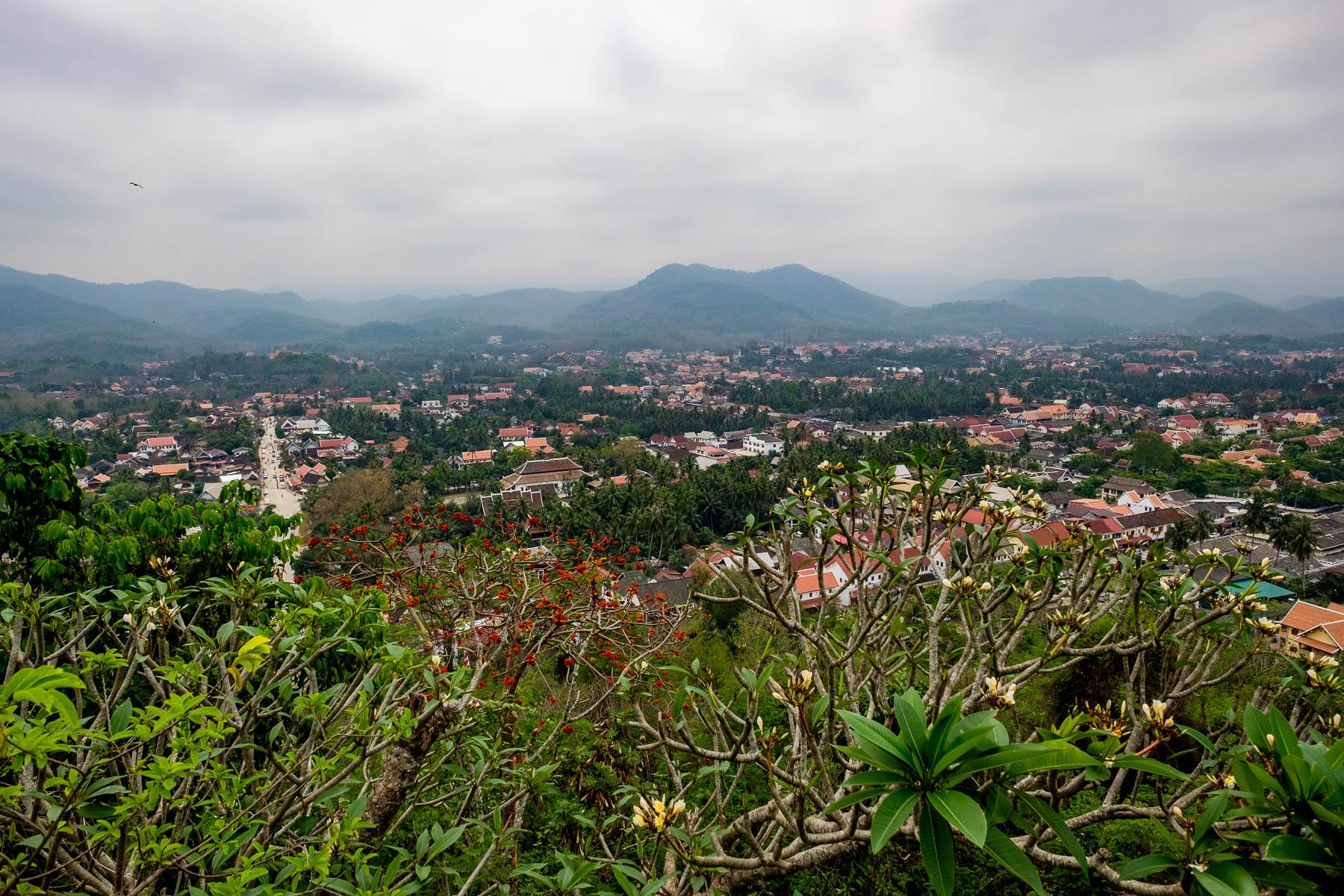 Luang Prabang town view from Mount Phousi