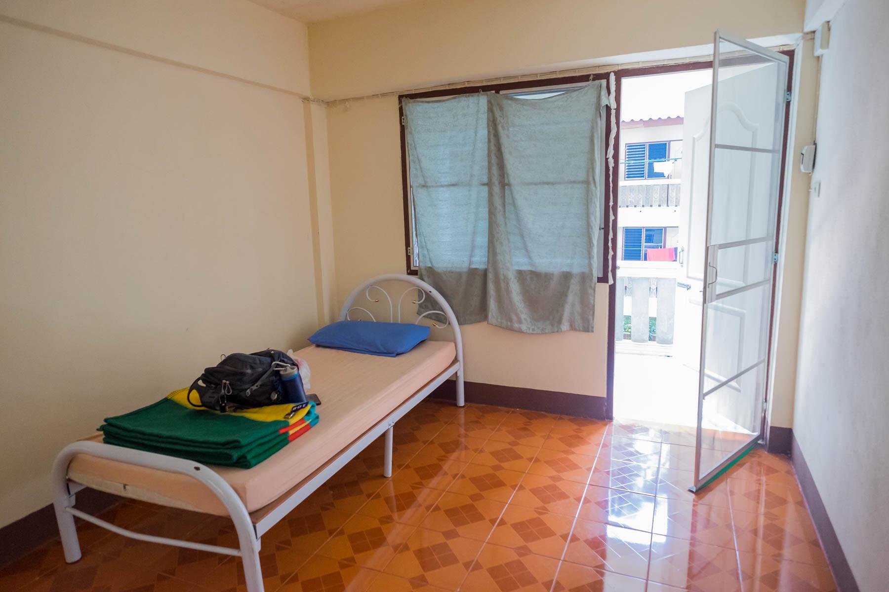 Meditation center accommodation room