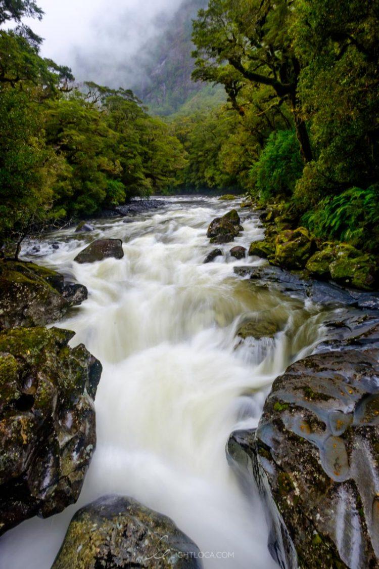 Milford Sound Waterfall Chasm
