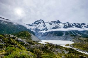 Mount Cook clouds New Zealand