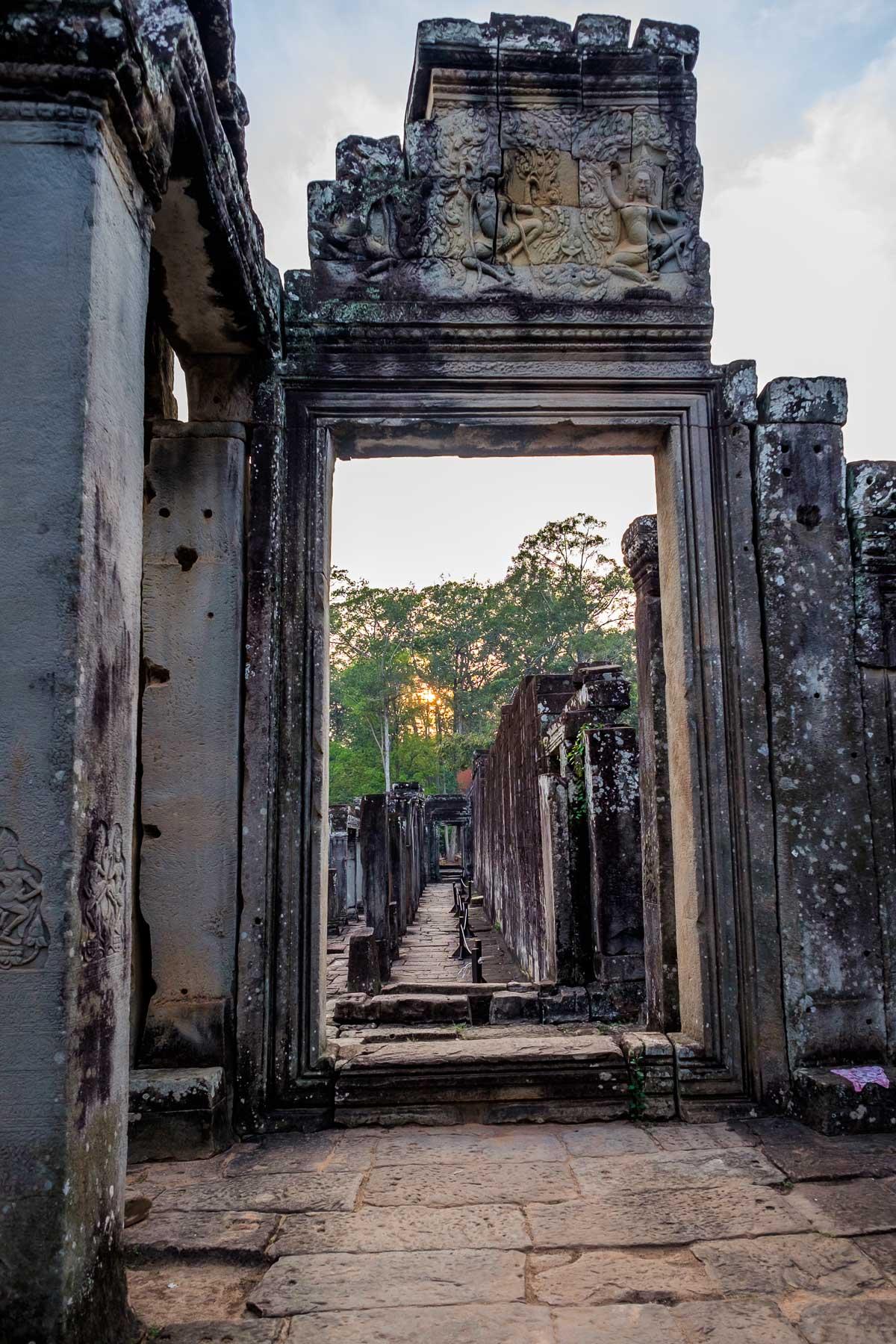 Open Doorway Bayon Cambodia