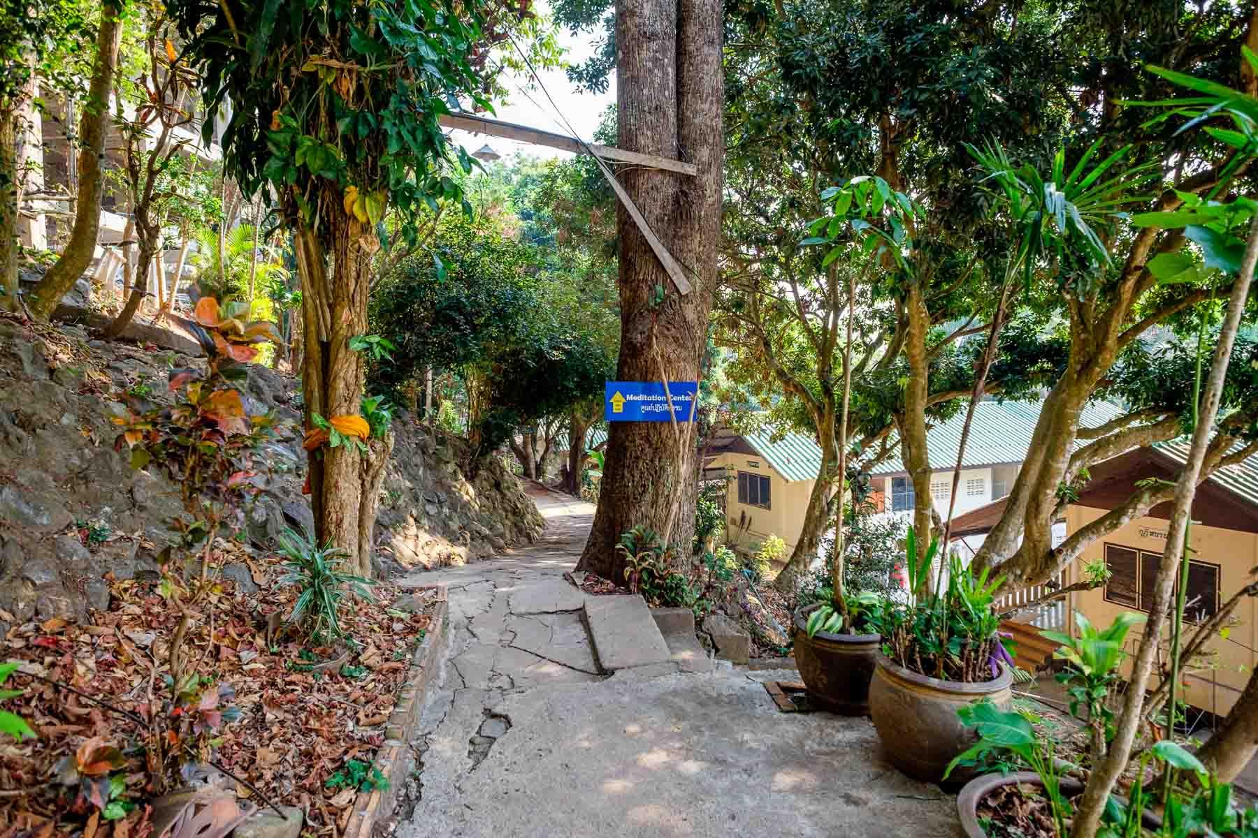 Path to meditation center