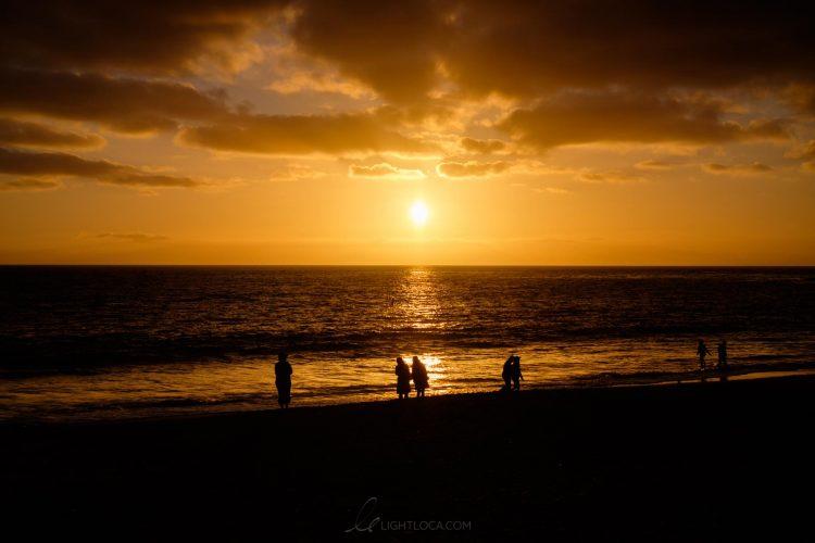 Sunset gold beach