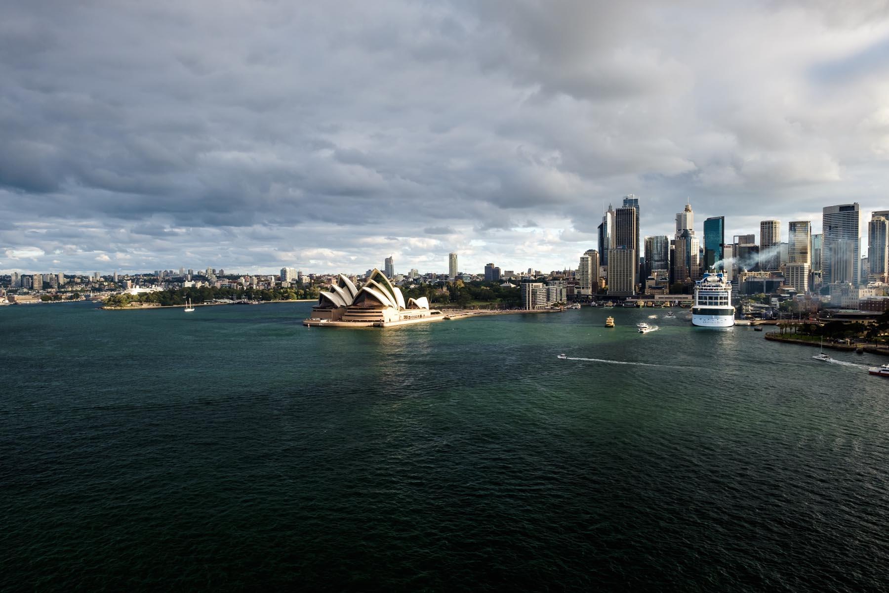 Sydney opera house and cruise ship Australia