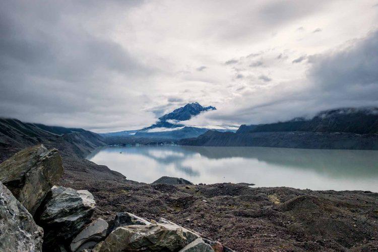 Tasman valley Mount Cook New Zealand Light Loca