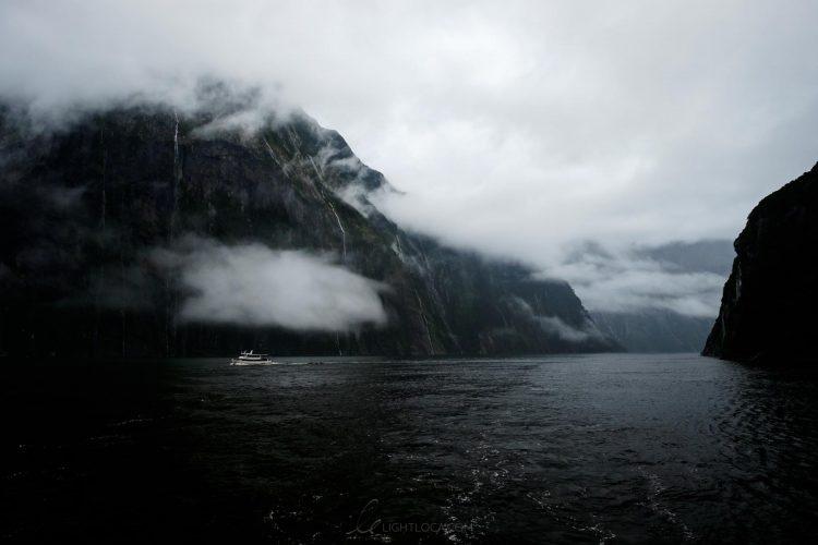 boat milford sound New Zealand ting fen zheng light loca