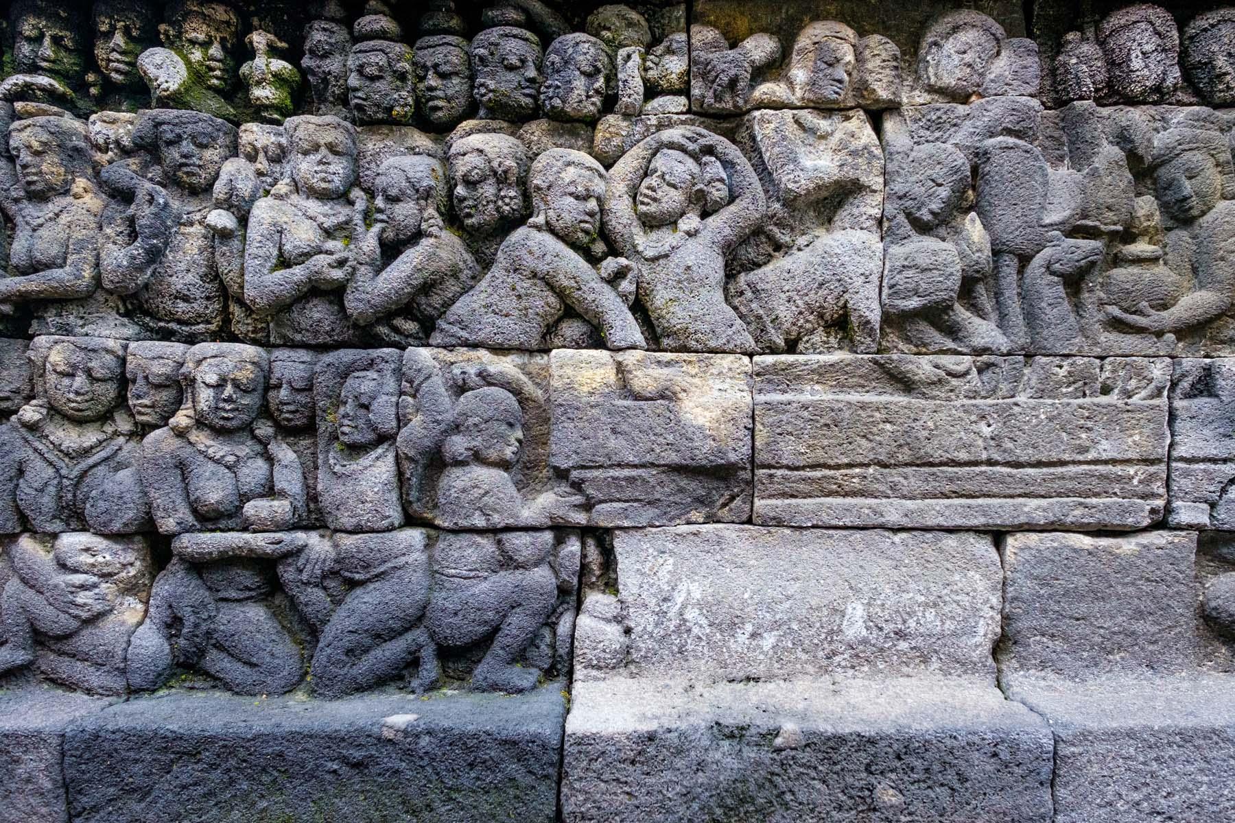 carvings Borobudur temple