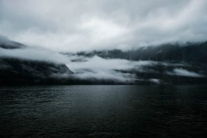 clouds mist milford sound New Zealand
