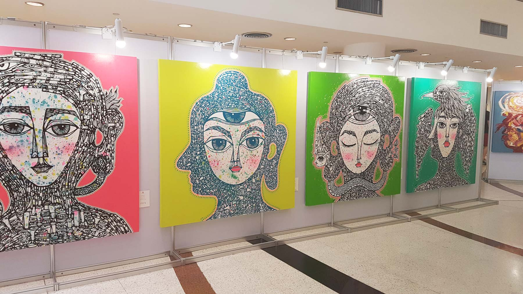 Artwork at the Cultural Arts Center Thailand