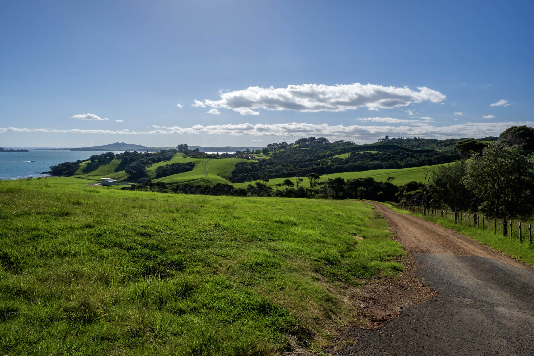 Field path waiheke island new zealand