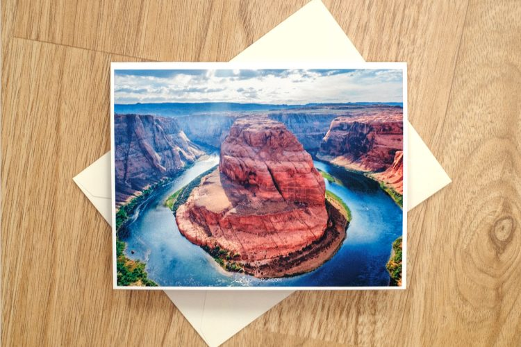 Horseshoe Bend Landscape greeting card light loca ting fen zheng