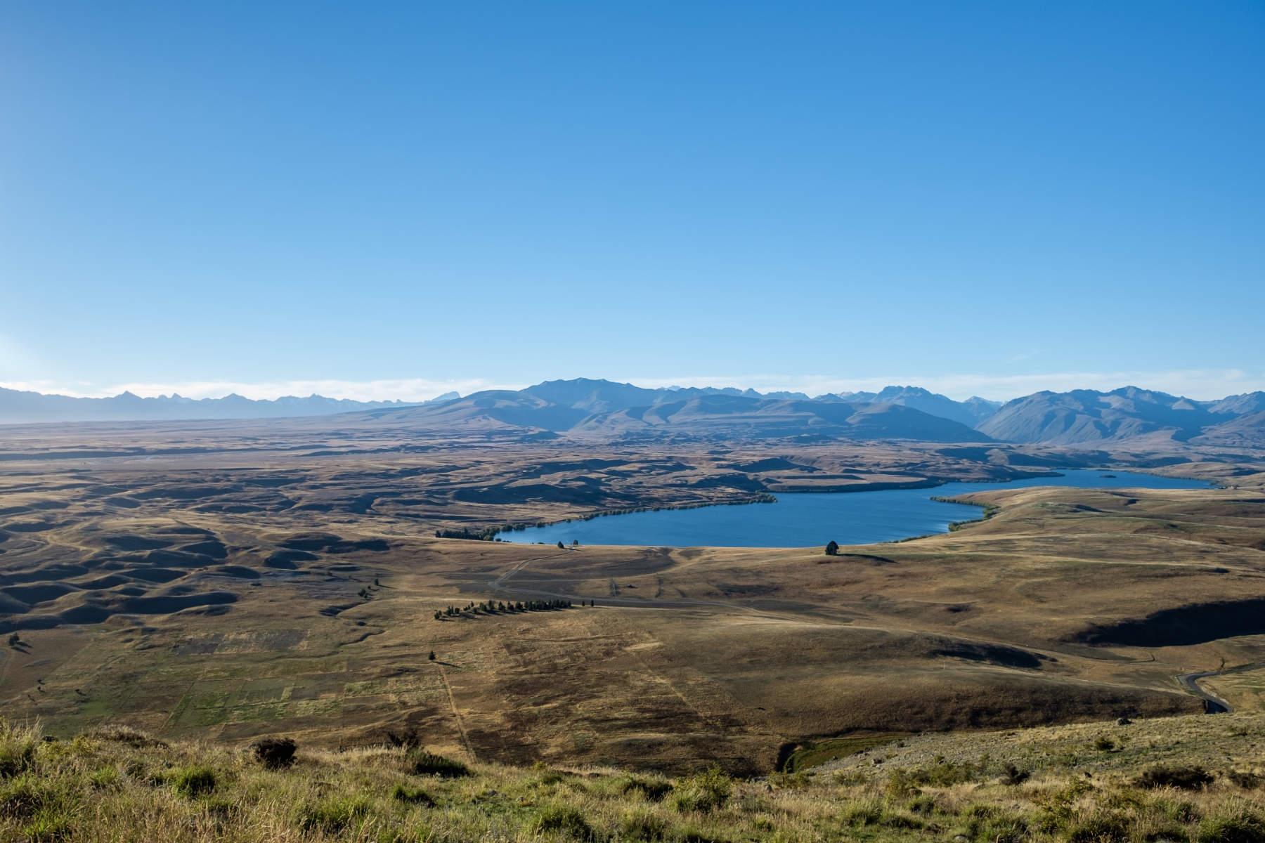 Mount John Lake Tekapo view new zealand