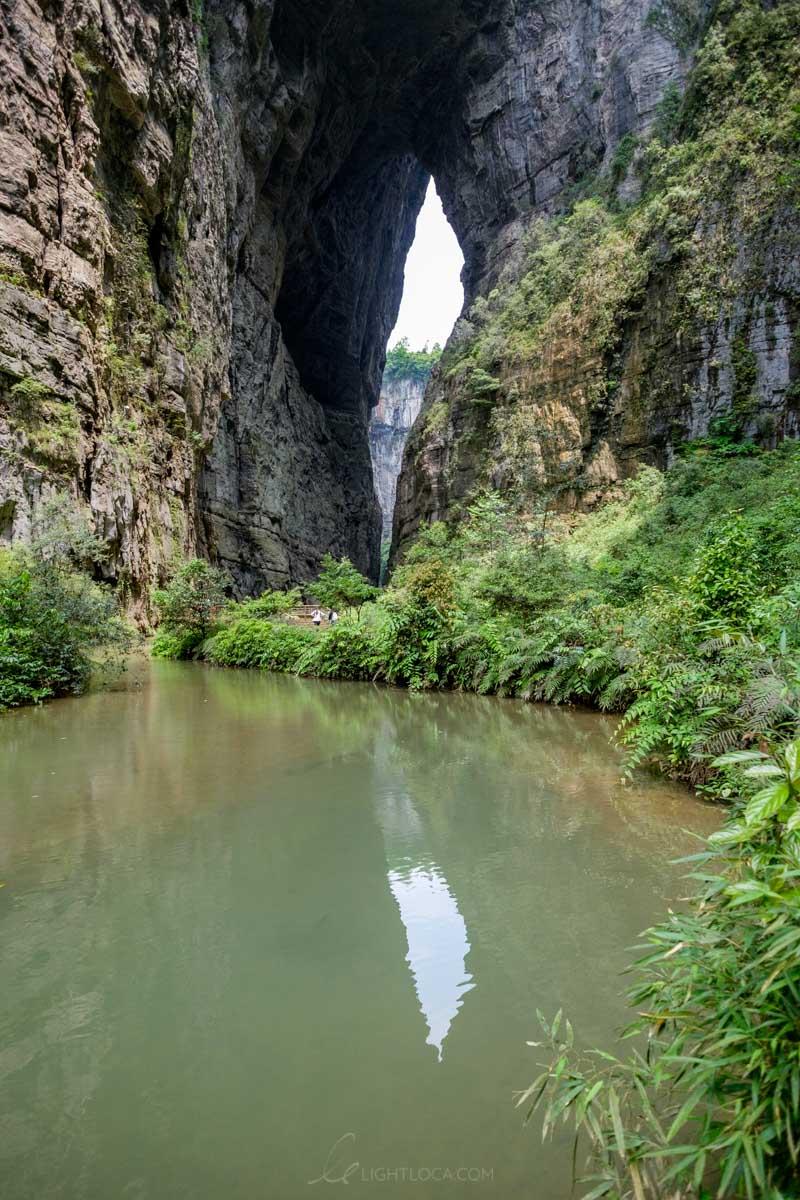reflections natural bridge